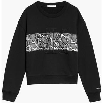 tekstylia Dziewczynka Bluzy Calvin Klein Jeans IG0IG01201 Czarny