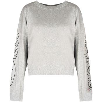 tekstylia Damskie T-shirty z długim rękawem Champion  Szary