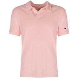 tekstylia Męskie Koszulki polo z krótkim rękawem Champion  Różowy
