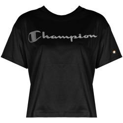 tekstylia Damskie T-shirty z krótkim rękawem Champion  Czarny