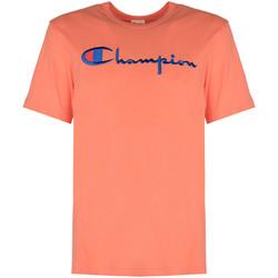 tekstylia Męskie T-shirty z krótkim rękawem Champion  Różowy