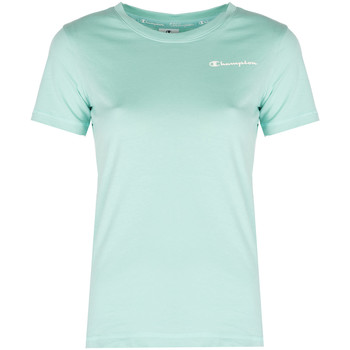 tekstylia Damskie T-shirty z krótkim rękawem Champion  Niebieski
