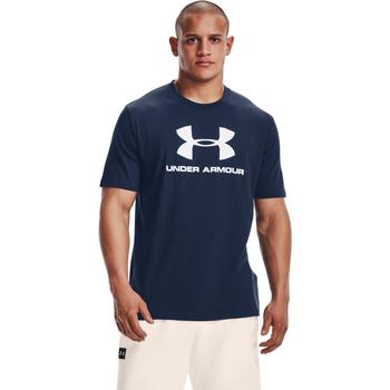 tekstylia Męskie Koszulki polo z krótkim rękawem Under Armour Ua Sportstyle Logo Niebieski