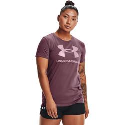 tekstylia Damskie Koszulki polo z krótkim rękawem Under Armour Sportstyle Graphic Purpurowy