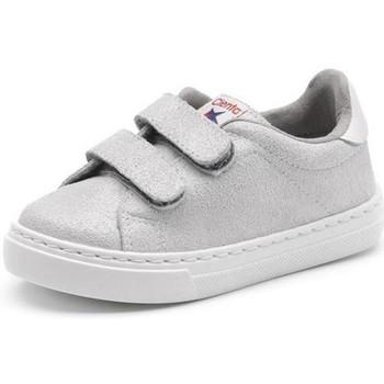 Buty Dziewczynka Trampki niskie Cienta Chaussures fille  Deportivo Scractch Glitter gris clair
