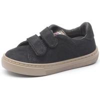 Buty Dziewczynka Trampki Cienta Chaussures fille  Deportivo Velcro On Suede noir