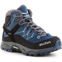 Buty Dziecko Trekking Salewa Jr Alp Trainer Mid GTX 64010-0365 niebieski