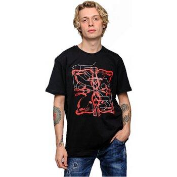 tekstylia Męskie T-shirty z krótkim rękawem Givenchy BMWZ3002 Czarny
