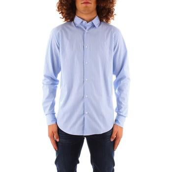 tekstylia Męskie Koszule z długim rękawem Trussardi 52C00216 1T004966 Niebieski