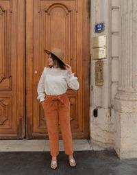 tekstylia Damskie Spodnie z pięcioma kieszeniami Céleste MARRONNIER Camel