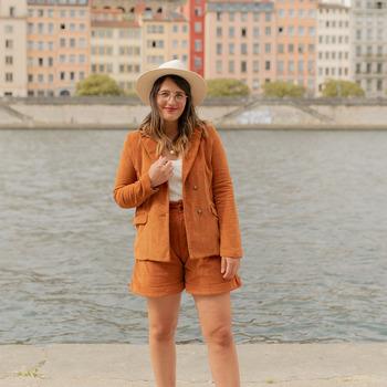 tekstylia Damskie Kurtki / Blezery Céleste SASSAFRAS Camel