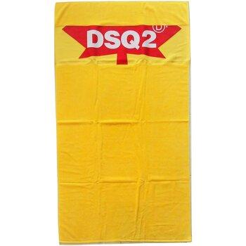 Dom Damskie Ręcznik i rękawica kąpielowa Dsquared D7P001930 Żółty