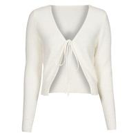 tekstylia Damskie Swetry rozpinane / Kardigany Yurban  Biały