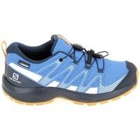 Buty Dziecko Bieganie / trail Salomon Xa Pro V8 Jr CSWP Bleu Niebieski