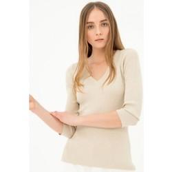 tekstylia Damskie Swetry Fracomina FR21ST7004K43201 Bezbarwny