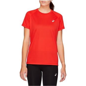 tekstylia Damskie T-shirty z krótkim rękawem Asics Sport Run Top Czerwony