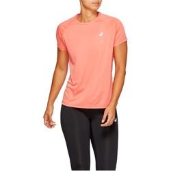 tekstylia Damskie T-shirty z krótkim rękawem Asics Sport Run Top Pomarańczowy