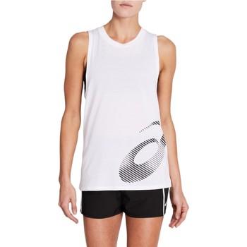 tekstylia Damskie Topy na ramiączkach / T-shirty bez rękawów Asics W Core Graphic Tank Biały