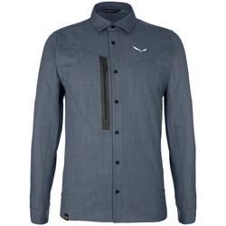 tekstylia Męskie Koszule z długim rękawem Salewa Koszula  Fanes Wool Dry M L/S SRT 27762-3988 szary