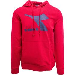 tekstylia Męskie Bluzy Diadora Big Logo Czerwony
