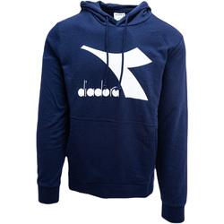tekstylia Męskie Bluzy Diadora Big Logo Niebieski