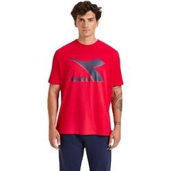 tekstylia Męskie T-shirty z krótkim rękawem Diadora Ss Shield Czerwony
