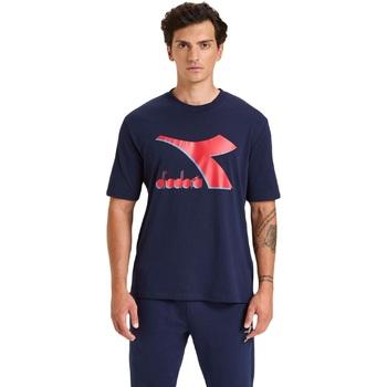 tekstylia Męskie T-shirty z krótkim rękawem Diadora Ss Shield Niebieski