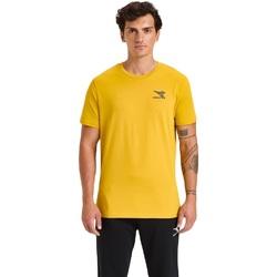 tekstylia Męskie T-shirty z krótkim rękawem Diadora Ss Chromia Żółty