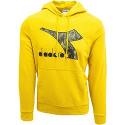 tekstylia Męskie Bluzy Diadora Big Logo Żółty