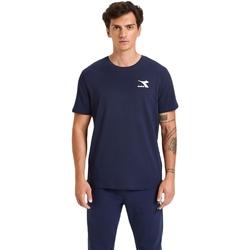 tekstylia Męskie T-shirty z krótkim rękawem Diadora Ss Chromia Niebieski