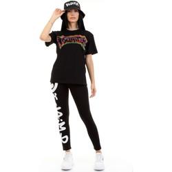 tekstylia Damskie T-shirty z krótkim rękawem Disclaimer 50934 Czarny