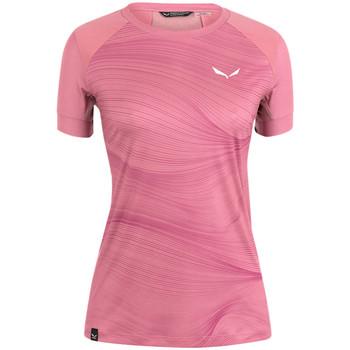tekstylia Damskie T-shirty z krótkim rękawem Salewa Koszulka  Seceda Dry W 28070-6570 różowy