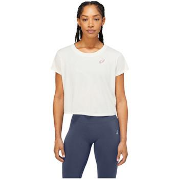 tekstylia Damskie T-shirty z krótkim rękawem Asics Nagare SS Top Biały