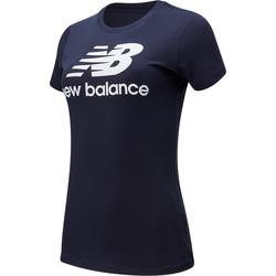 tekstylia Damskie T-shirty z krótkim rękawem New Balance Essentials Stack Niebieski