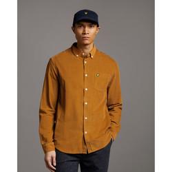 tekstylia Męskie Koszule z długim rękawem Lyle & Scott Chemise  Needle Cord marron