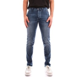 tekstylia Męskie Jeansy straight leg Roy Rogers A21RRU006D463A145 Niebieski