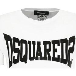 tekstylia Męskie T-shirty z krótkim rękawem Dsquared S71GD0918 Biały