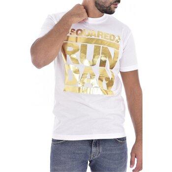 tekstylia Męskie T-shirty z krótkim rękawem Dsquared S74GD0445 Biały