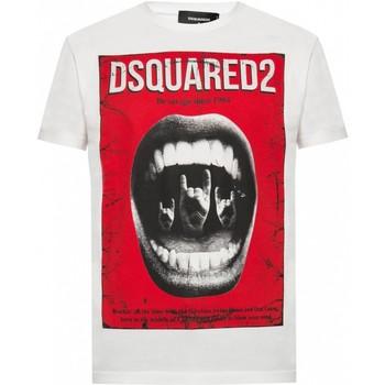tekstylia Męskie T-shirty z krótkim rękawem Dsquared S74GD0476 Biały
