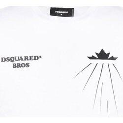 tekstylia Męskie T-shirty z krótkim rękawem Dsquared S71GD0885 Biały