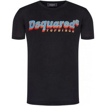 tekstylia Męskie T-shirty z krótkim rękawem Dsquared S71GD0886 Czarny