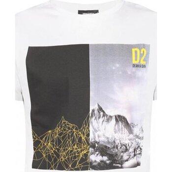 tekstylia Męskie T-shirty z krótkim rękawem Dsquared S74GD0265 Biały