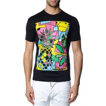 tekstylia Męskie T-shirty z krótkim rękawem Dsquared S71GD0622 Czarny