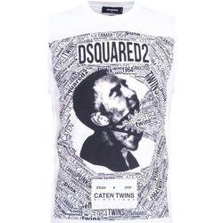 tekstylia Męskie T-shirty z krótkim rękawem Dsquared S74GD0481 Biały