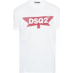 tekstylia Męskie T-shirty z krótkim rękawem Dsquared S71GD0596 Biały