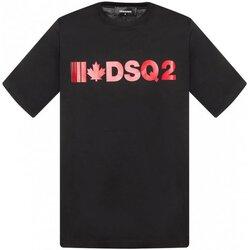 tekstylia Męskie T-shirty z krótkim rękawem Dsquared S74GD0568 Czarny