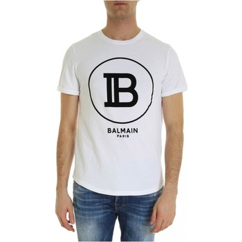 tekstylia Męskie T-shirty z krótkim rękawem Balmain SH01135 I207 Biały