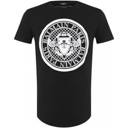 tekstylia Męskie T-shirty z krótkim rękawem Balmain TH11135 I216 Czarny
