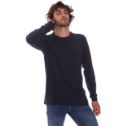 tekstylia Męskie T-shirty z długim rękawem Key Up 2E96B 0001 Niebieski