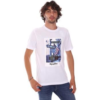 tekstylia Męskie T-shirty z krótkim rękawem Refrigiwear RM0T24400JE9101 Biały